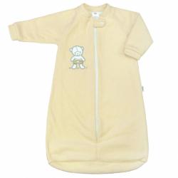 Kojenecký froté spací pytel New Baby medvídek žlutý