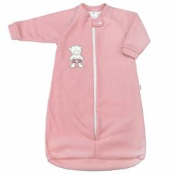 Dojčenské froté spací vak New Baby medvedík ružový