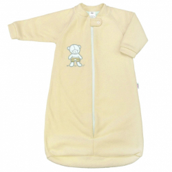 Dojčenské froté spací vak New Baby medvedík žltý