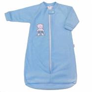 Dojčenské froté spací vak New Baby medvedík modrý