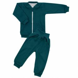 Kojenecké tepláčky a mikinka New Baby Uni smaragdově zelená