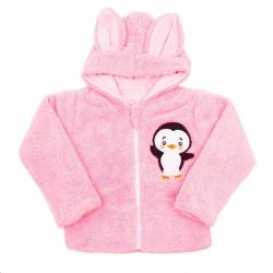 Zimná detská mikina New Baby Penguin ružová