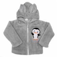 Zimná detská mikina New Baby Penguin šedá