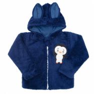 Zimná detská mikina New Baby Penguin tmavo modrá