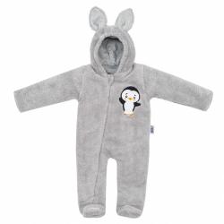 Zimní dětská kombinéza New Baby Penguin šedá