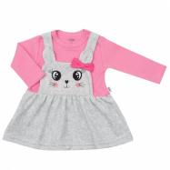 Dojčenské semiškové šatôčky New Baby For Babies ružové