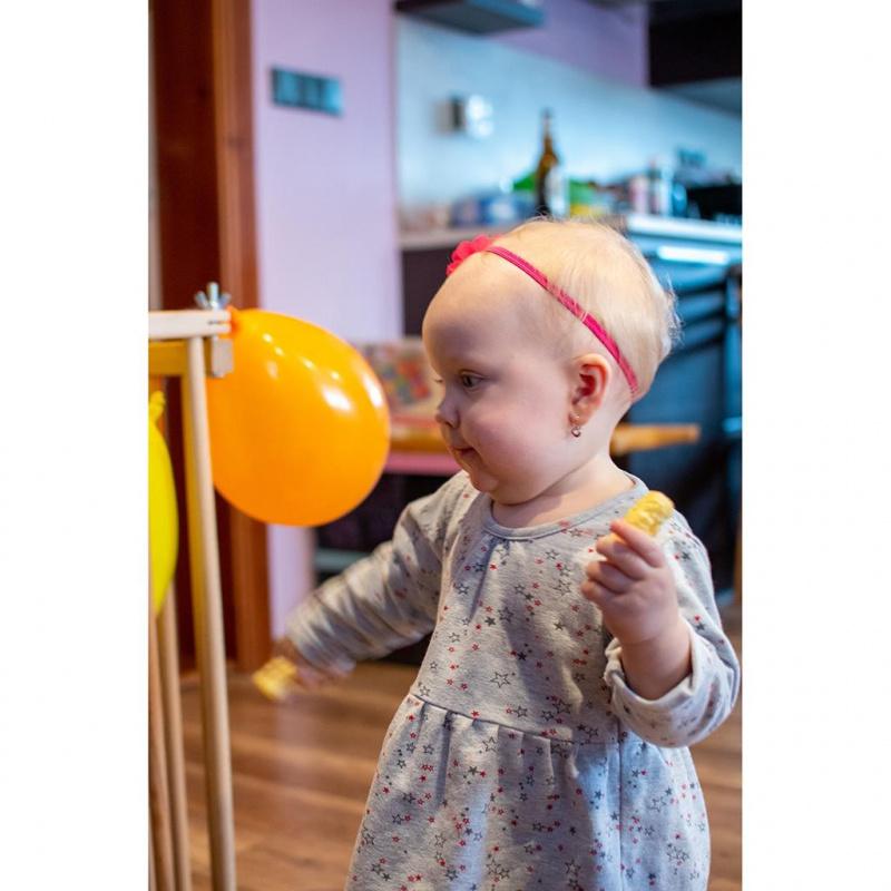 Sukienka niemowlęca z długim rękawem Gwiazdki New Baby For Girls