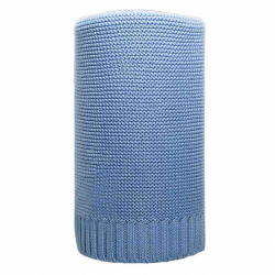 Bambusová pletená deka NEW BABY 100x80 cm modrá