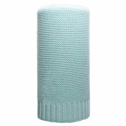 Bambusová pletená deka NEW BABY 100x80 cm mätová