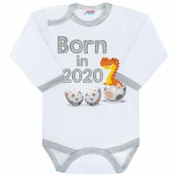 Body s potlačou New Baby Born in 2020 šedo-bielej