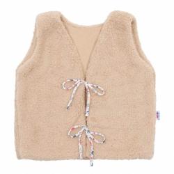 Dívčí bavlněná chlupatá vesta New Baby For Girls