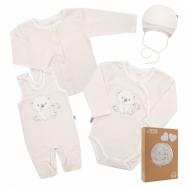 Dojčenská súpravička do pôrodnice New Baby Sweet Bear béžová
