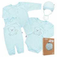 Dojčenská súpravička do pôrodnice New Baby Sweet Bear modrá