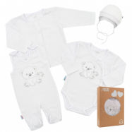 Dojčenská súpravička do pôrodnice New Baby Sweet Bear biela