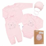 Dojčenská súpravička do pôrodnice New Baby Sweet Bear ružová
