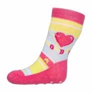 Kojenecké ponožky New Baby s ABS růžové se srdíčkem monday