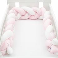 Ochranný mantinel do postieľky vrkoč New Baby Zajačikov ružový