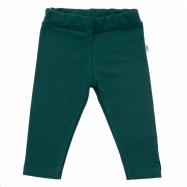Dojčenské bavlnené legíny New Baby Leggings tmavo zelené