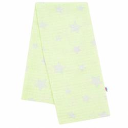 Bavlnená plienka s potlačou New Baby zelená hviezdičky šede