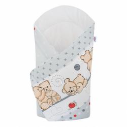 Chusta do noszenia dzieci New Baby jasnoszara z misiem