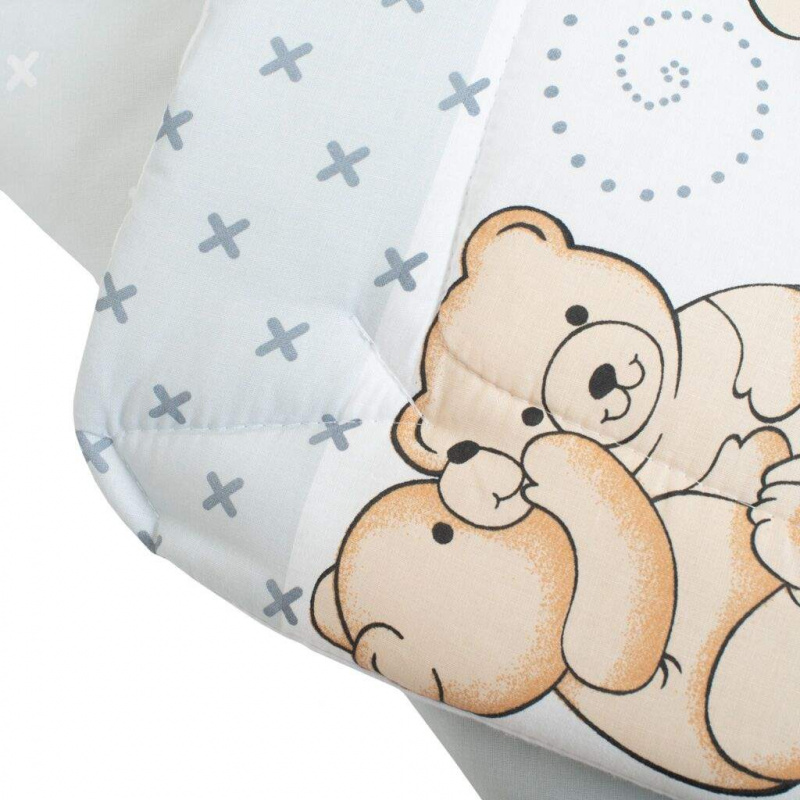 Detská zavinovačka New Baby svetlo šedá s medvedíkom