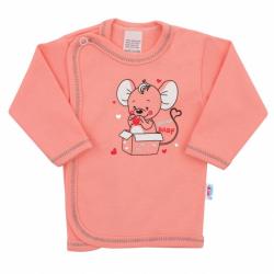 Kojenecká košilka New Baby Mouse lososová