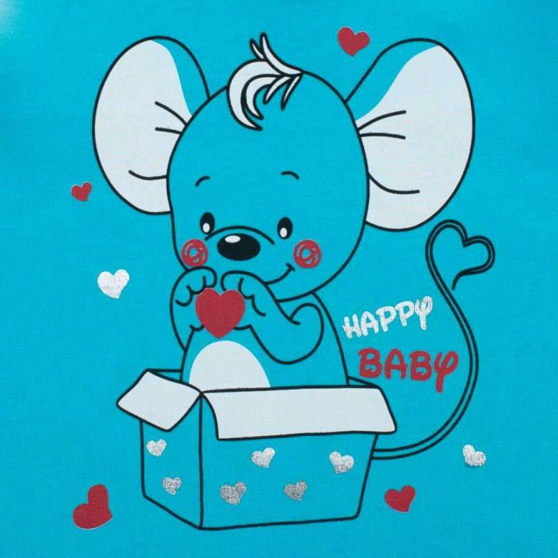Kojenecká košilka New Baby Mouse tyrkysová