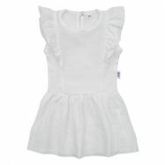Dojčenské mušelínové šaty biele