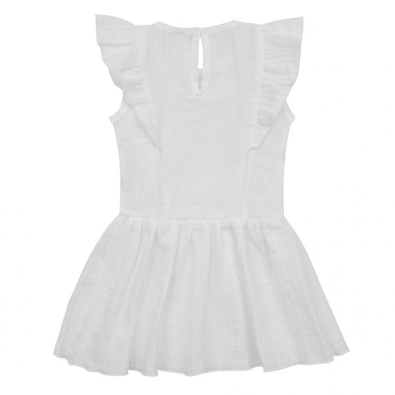 Kojenecké mušelínové šaty New Baby Summer Nature Collection bílé