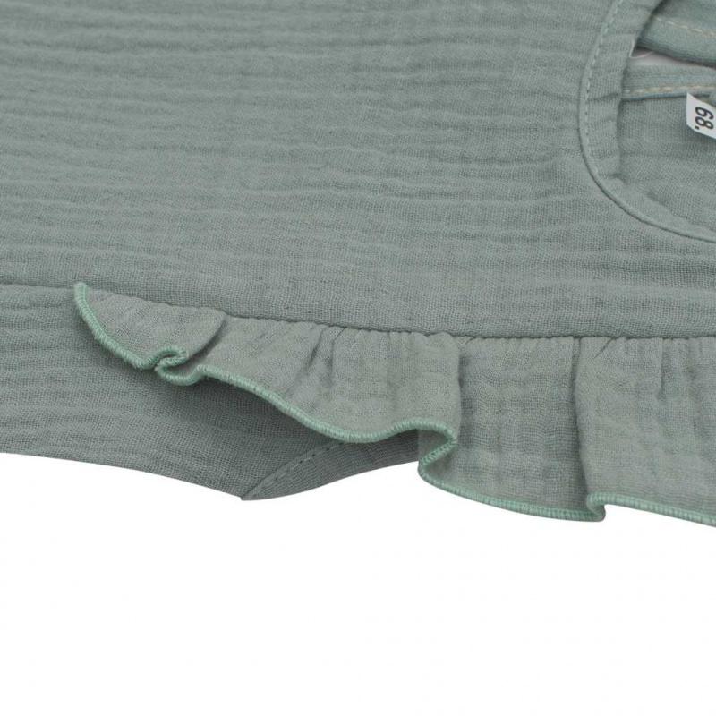 Kojenecké mušelínové šaty New Baby Summer Nature Collection mátové