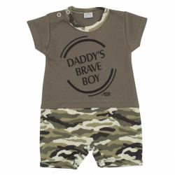 Dojčenský letný overal New Baby Army boy
