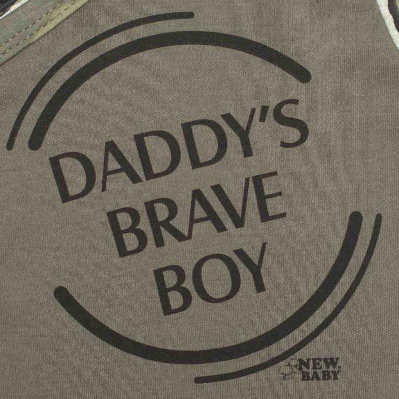 2-dílná kojenecká souprava New Baby Army boy