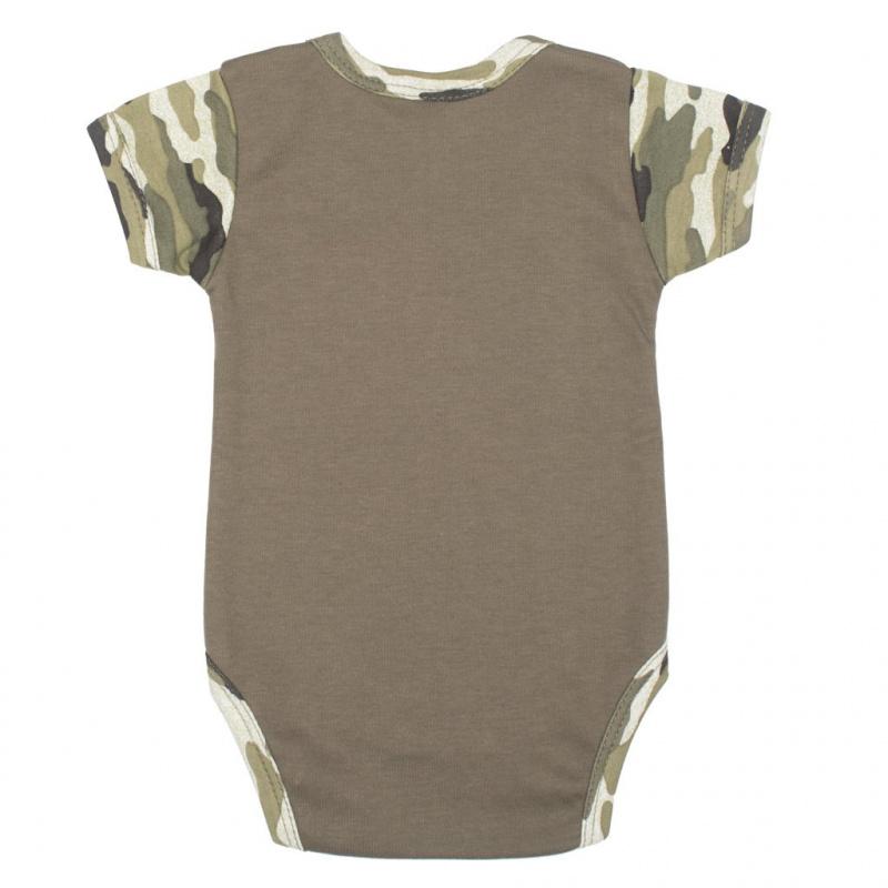 Dojčenské body s krátkym rukávom New Baby Army boy