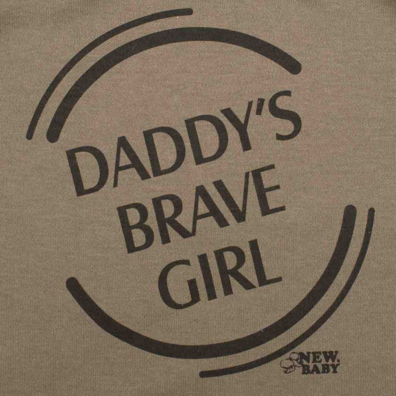 Kojenecké body s dlouhým rukávem New Baby Army girl