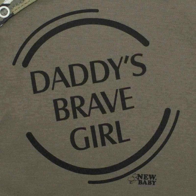 2-dílná kojenecká souprava New Baby Army girl