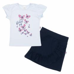 Kojenecké tričko se sukýnkou New Baby Butterflies modrá
