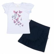 Dojčenské tričko sa sukienkou New Baby Butterflies modrá