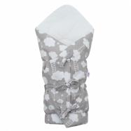 Klasická šnurovacie zavinovačka New Baby Mráček šedá