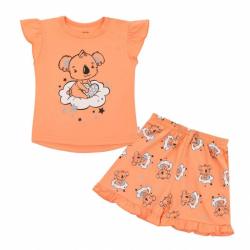 Dětské letní pyžamko New Baby Dream lososové