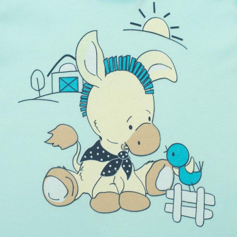 Dojčenské dupačky New Baby Donkey tyrkysové