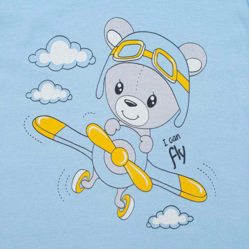 2-dielna súprava New Baby Teddy pilot modrá