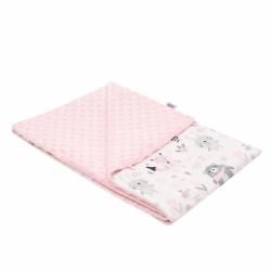 Detská deka z Minky New Baby Medvedíci ružová 80x102 cm