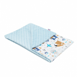 Detská deka z Minky New Baby Medvedíci modrá 80x102 cm