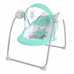 Detské hojdacie ležadlo NEW BABY TEDDY Mint