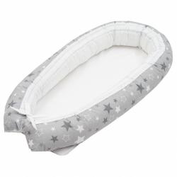 Hnízdečko pro miminko New Baby Hvězdičky šedo-bílá