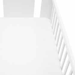 Jersey plachta do postieľky New Baby 120x60 biele