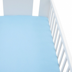 Jersey plachta do postieľky New Baby 120x60 modré