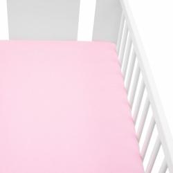 Jersey plachta do postieľky New Baby 120x60 ružové