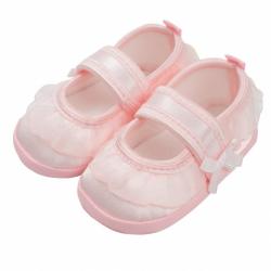 Dojčenské capačky New Baby saténové ružové 0-3 m
