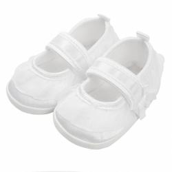 Kojenecké capáčky New Baby saténové bílé 0-3 m
